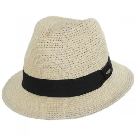Scala Summerville Polybraid Fedora Hat