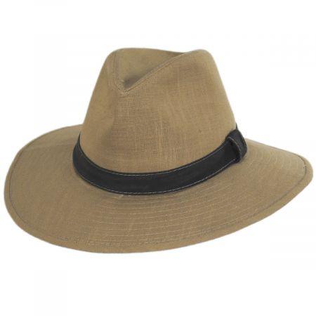 Dorfman Pacific Company Tallulah Wide Brim Hemp Safari Fedora Hat