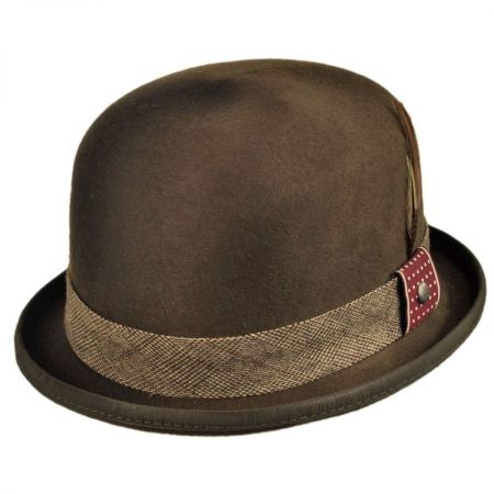 Kangol Tweed Deluxe Wool Felt Bowler Hat