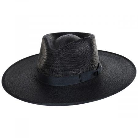 Jo Palm Straw Rancher Fedora Hat