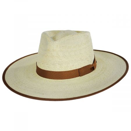 Jo Palm Straw Rancher Fedora Hat alternate view 5