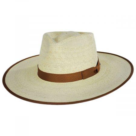 Jo Palm Straw Rancher Fedora Hat alternate view 13