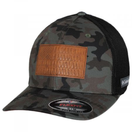 Tree Flag Camouflage Mesh Flexfit Fitted Baseball Cap alternate view 5