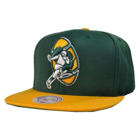 Mitchell & Ness Green Bay Packers NFL XL Logo 2Tone Snapback Baseball Cap