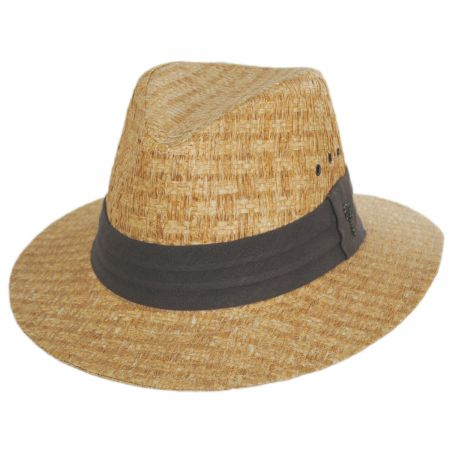 Dorfman Pacific Company Reef Matte Toyo Straw Safari Fedora Hat