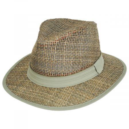 Dorfman Pacific Company Maldives Twisted Seagrass Straw Safari Fedora Hat