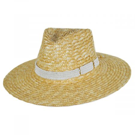 Nikki Beach Alessia Milan Straw Fedora Hat