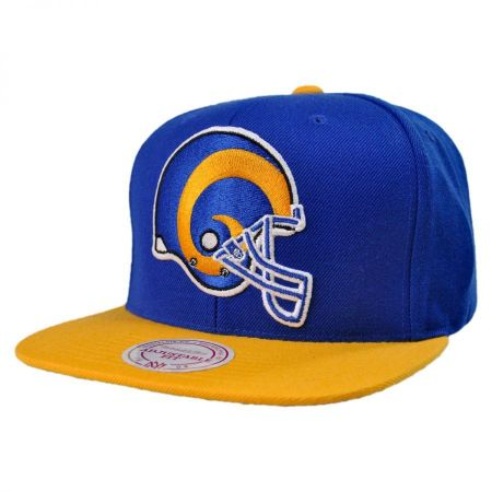 Mitchell & Ness St Louis Rams NFL XL Logo 2Tone Snapback Baseball Cap