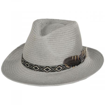 West Toyo Straw Fedora Hat