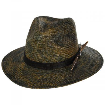 Vagabond Distressed Panama Straw Safari Fedora Hat alternate view 9