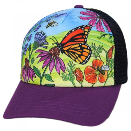 Kids' Butterfly and Bees Trucker Snapback Baseball Cap