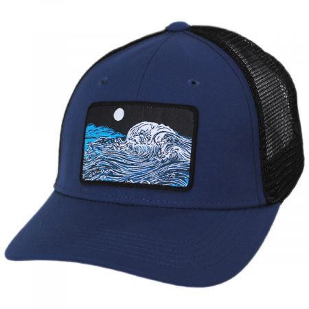 Crashing Wave Patch Trucker Snapback Baseball Cap