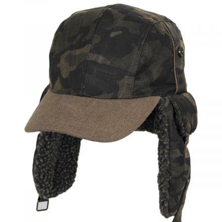 Dorfman Pacific Company Camo Cotton Trapper Hat