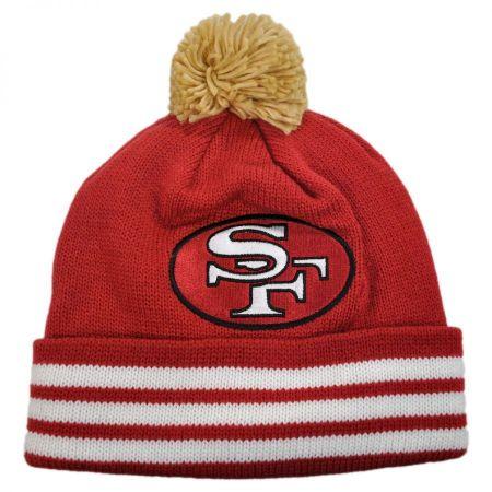 Mitchell & Ness San Francisco 49ers NFL Cuffed Knit Beanie w/ Pom