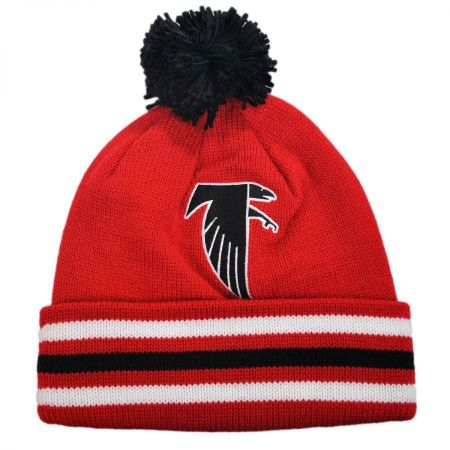 Atlanta Falcons NFL Cuffed Knit Beanie Hat w/ Pom