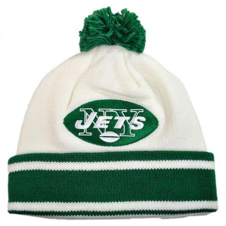 New York Jets NFL Cuffed Knit Beanie Hat w/ Pom