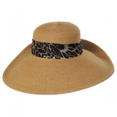 San Diego Hat Company Ultrabraid Fold Back Toyo Straw Blend Sun Hat