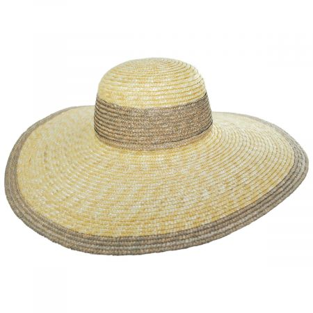 San Diego Hat Company Two-Tone Wheat Straw Swinger Hat