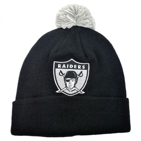 Mitchell & Ness Oakland Raiders NFL Cuffed Knit Beanie w/ Pom