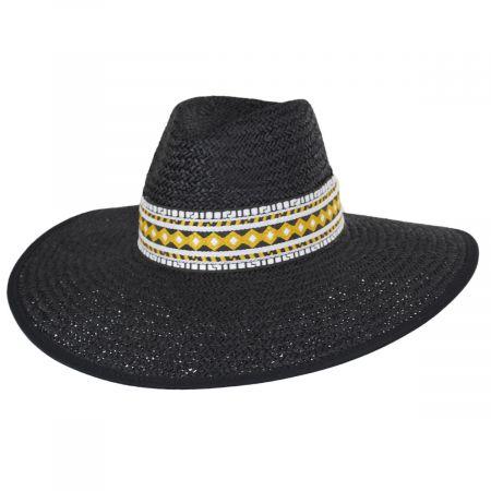 Jacquard Ribbon Toyo Straw Fedora Hat