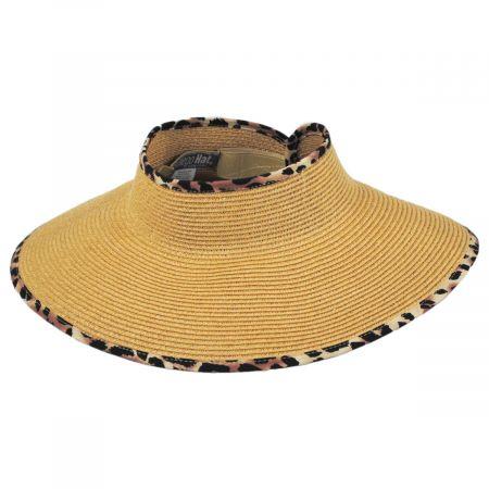 San Diego Hat Company Ultrabraid Toyo Straw Blend Roll Up Visor