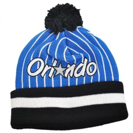 Mitchell & Ness Orlando Magic NBA Cuffed Knit Beanie w/ Pom
