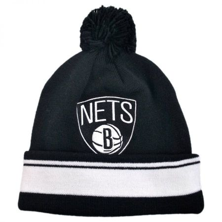 Brooklyn Nets NBA Cuffed Knit Beanie w/ Pom