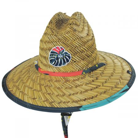Hemlock Hat Co Kids' Laguna Straw Lifeguard Hat