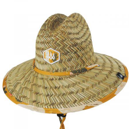 Hemlock Hat Co Kids' Lima Straw Lifeguard Hat