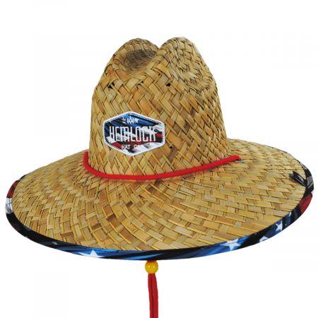 Hemlock Hat Co Youth Maverick Straw Lifeguard Hat