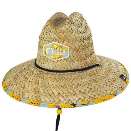 Hemlock Hat Co Youth Peel Straw Lifeguard Hat