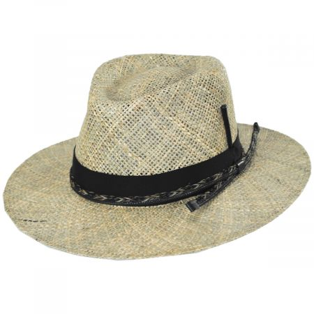 Verrett Seagrass Straw Fedora Hat alternate view 7