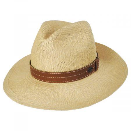 Bailey Gunnar Panama Straw Fedora Hat