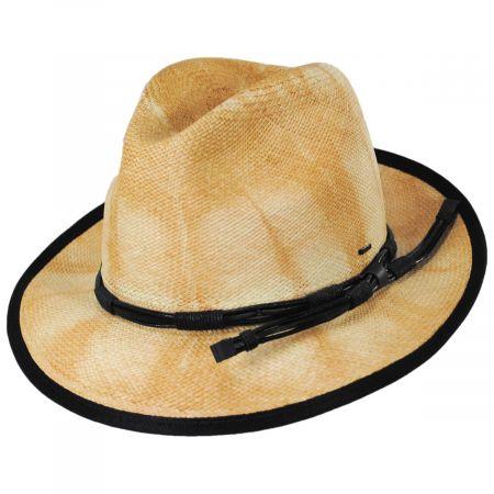 Bailey Clafin Tie Dye Panama Straw Fedora Hat