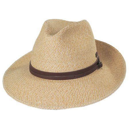 Balans Roll Up Toyo Straw Blend Fedora Hat