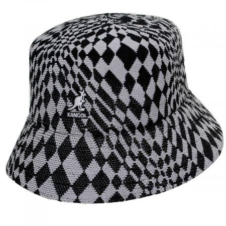 Kangol Warped Check Tropic Bucket Hat