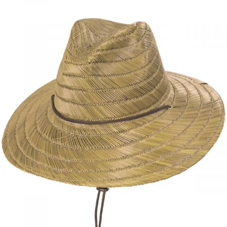 Brixton Hats Bells Tan Rush Straw Lifeguard Hat