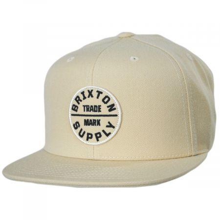 Brixton Hats Oath III Vanilla Cotton Blend Snapback Baseball Cap