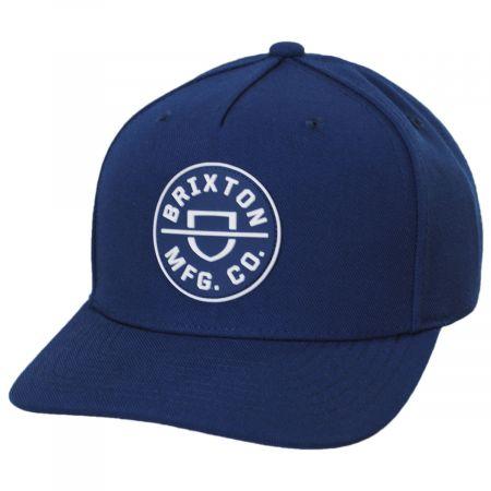 Crest Blue 5-Panel Snapback Baseball Cap
