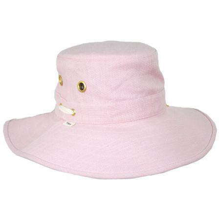 Broadbrim Pink Hemp Fabric Sun Hat