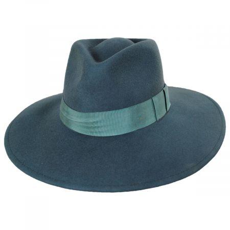 Joanna II Pine Green Wool Felt Fedora Hat