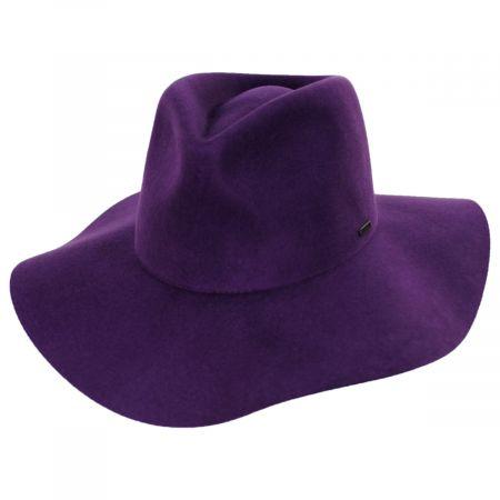 Maya Purple Wool Felt Fedora Hat