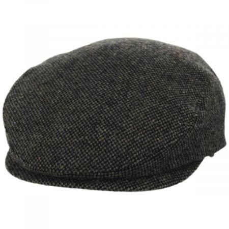Wigens Cap Donegal Olive Green Shetland Earflap Wool Ivy Cap