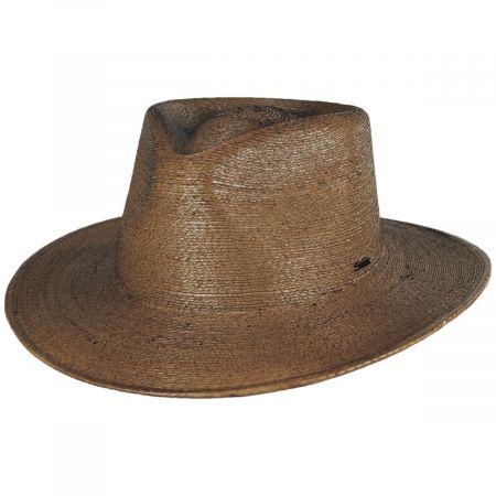 Brixton Hats Marco Toffee Palm Straw Fedora Hat