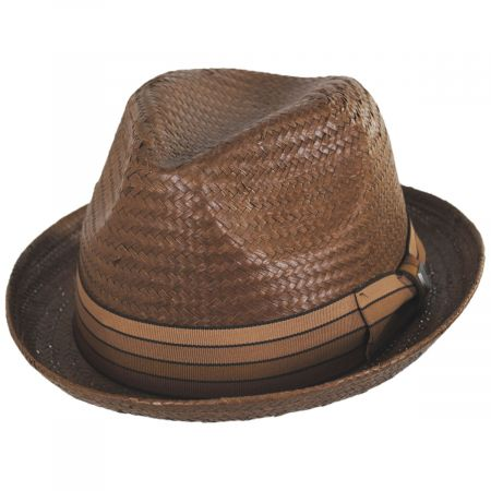 Brixton Hats Castor Toffee Toyo Straw Fedora Hat