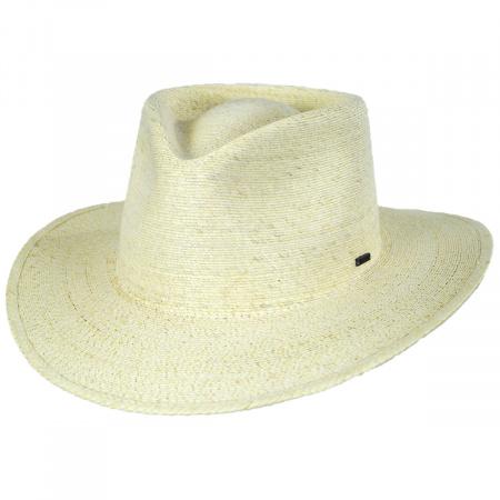 Brixton Hats Marco Natural Palm Straw Fedora Hat