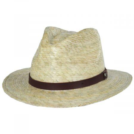 Messer Palm Straw Fedora Hat