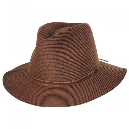 Wesley Braided Toyo Straw Fedora Hat
