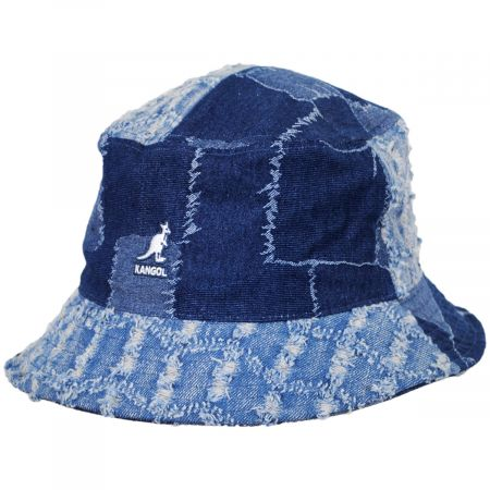 Patchwork Mashup Denim Cotton Bucket Hat alternate view 9