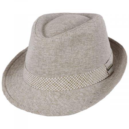 Stetson Travis Cotton Trilby Fedora Hat